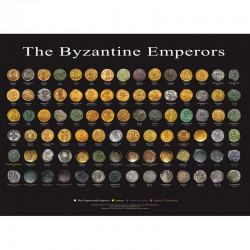 poster  empereurs Byzantin version Anglaise