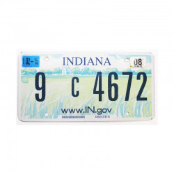 Plaque d Immatriculation USA - Indiana ( 1076 )