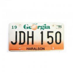Plaque d Immatriculation USA - Georgia ( 1075)
