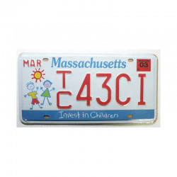 Plaque d Immatriculation USA - Massachusetts ( Rep - 027 )