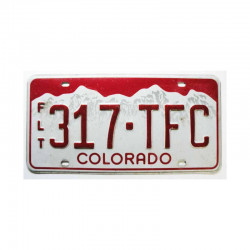Plaque d Immatriculation USA - Colorado ( 1138 )