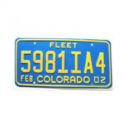 Plaque d Immatriculation USA - Colorado ( 1136 )