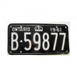 Plaque d Immatriculation Canada Ontario ( 1122 )