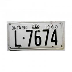 Plaque d Immatriculation Canada Ontario ( 1121 )