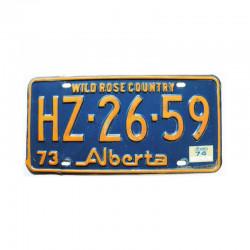 Plaque d Immatriculation Alberta ( 1116 )
