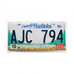 Plaque d Immatriculation Manitoba ( 1111 )