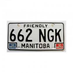 Plaque d Immatriculation Manitoba ( 189 )