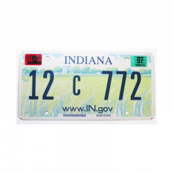 Plaque d Immatriculation USA - Indiana ( 1086 )