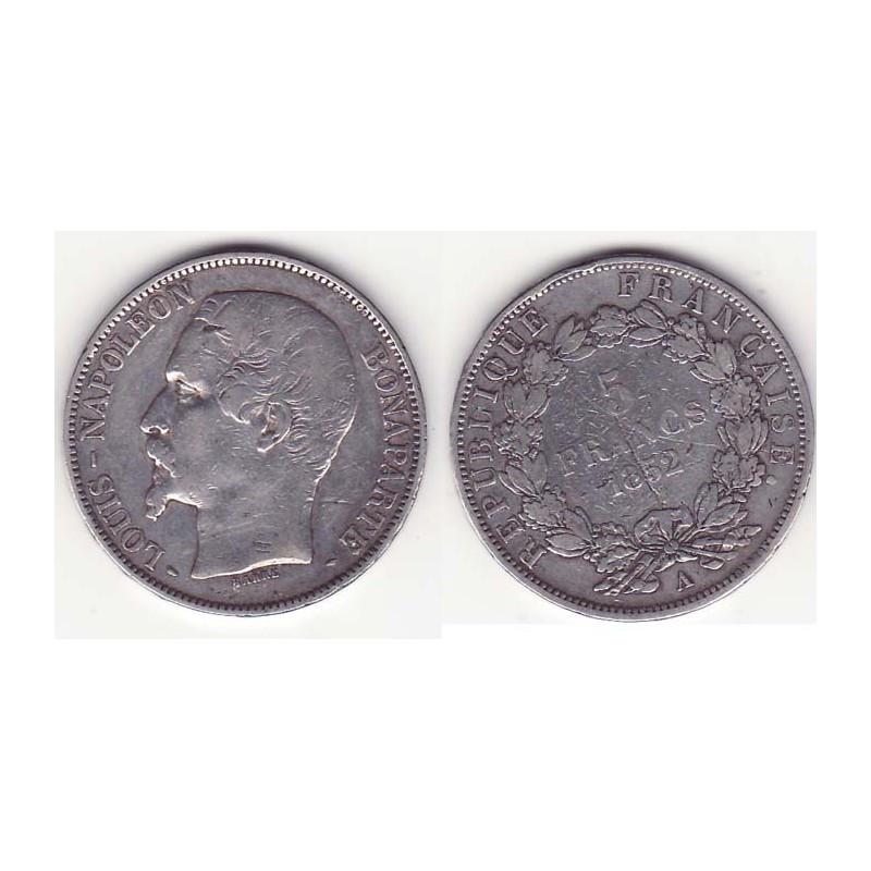 5 francs Louis Napoleon 1852 A argent ( 003 )