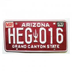 Plaque d Immatriculation USA - Arizona ( 1147 )