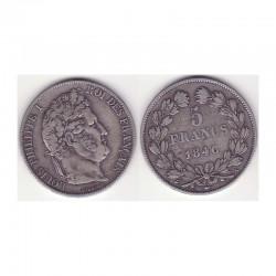 5 francs Louis Philippe 1846 A Argent ( 001 )