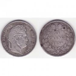5 franc Louis Philippe 1834 A Argent ( 004 )