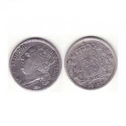 1/2 franc Louis XVIII 1824 A argent
