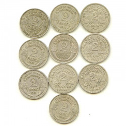 lot de 10 pieces de 2 Francs Alu (  005 )