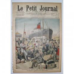 Le Petit Journal 1909 N° 865 Greve Inscrits maritimes