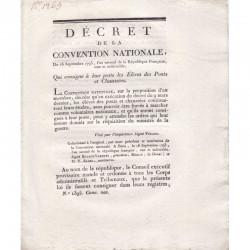 Decret Revolutionaire - eleves de Pont et Chaussée ( 034 )