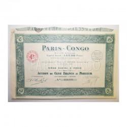 Action Anciene SA Paris Congo ( 559 )