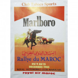 Affiche officile du Rallye du Maroc 1985 ( 61 )