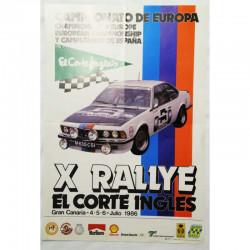 Affiche officile du X Rallye el corte ingles ( 55 )