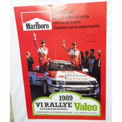Affiche officile du rallye de Madrid 1989 ( 59 )