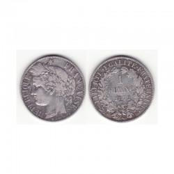 1 piece de 1 franc Ceres Argent 1872 K (002 )