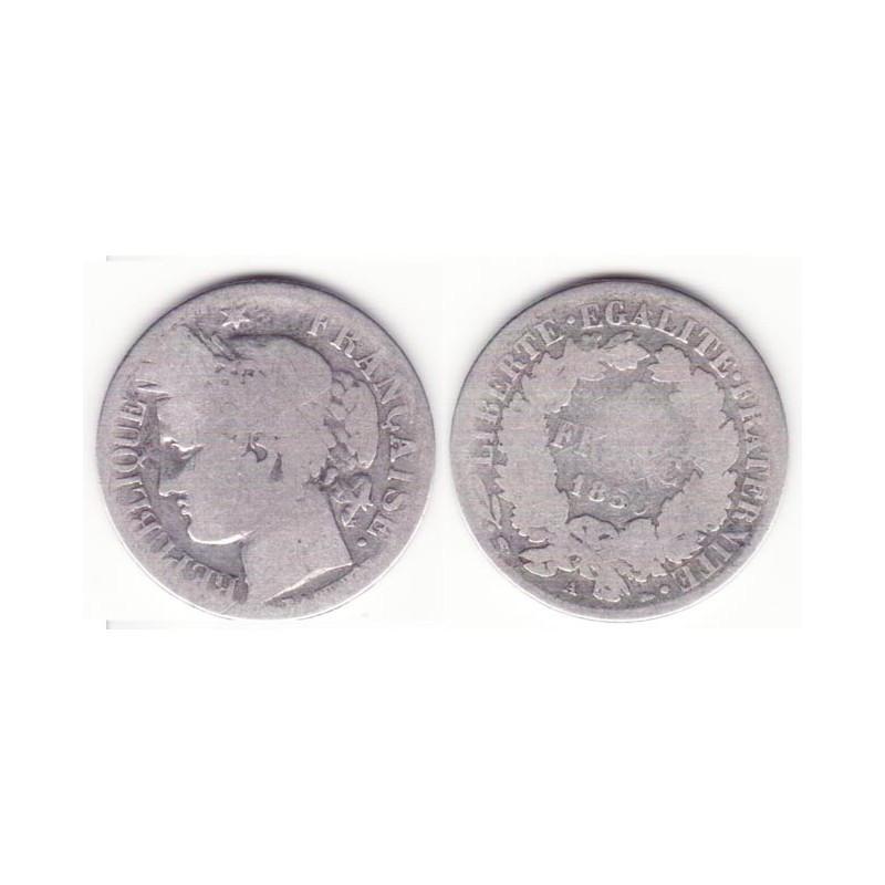 1 piece de 1 franc Ceres Argent 1850 A ( 001 )