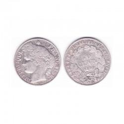 1 piece de 50 centimes Ceres Argent 1895 A ( 002 )