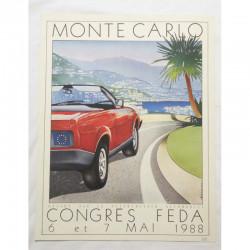 Affiche officile du Congres Feda Monaco 1988 ( 54 )