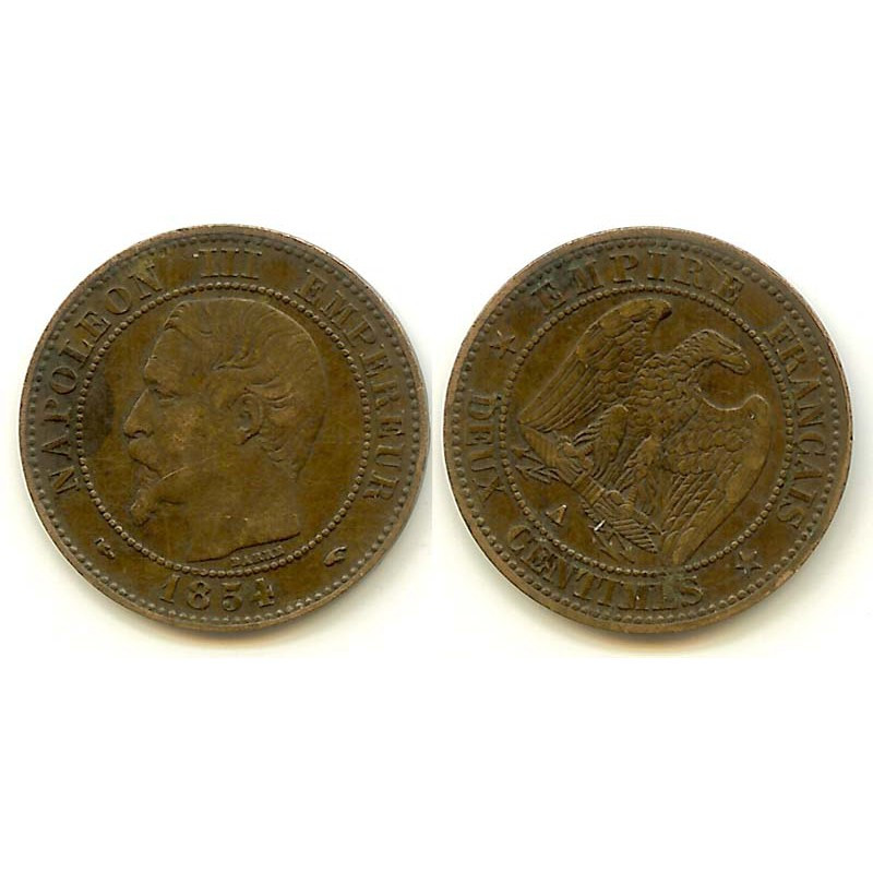 2 cents Napoleon 3 1854 A
