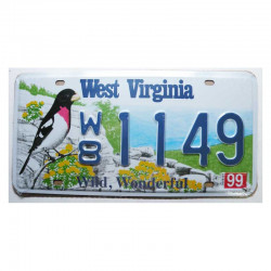 Plaque d Immatriculation USA - West Virginia ( Rep - 089 )