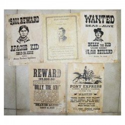 Lot 5 affiches USA Western , Cowboys ( 009 )
