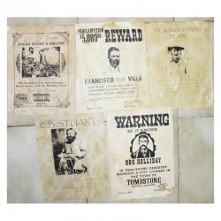 Lot 5 affiches USA Western , Cowboys ( 011 )