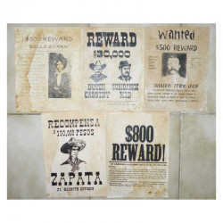 Lot 5 affiches USA Western , Cowboys ( 018 )