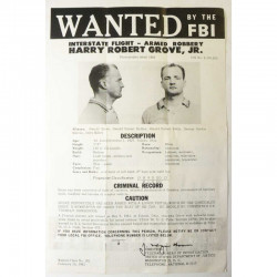 1 affiche vintage originale Wanted FBI USA ( 016)