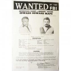 1 affiche vintage originale Wanted FBI USA ( 017)