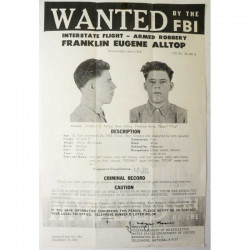 1 affiche vintage originale Wanted FBI USA ( 018 )