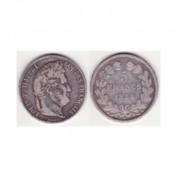 5 francs Louis Philippe 1834 A Argent ( 002 )
