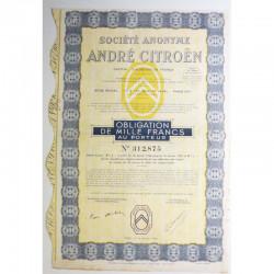 Obligation anciennne : SA André citroen ( 231 )