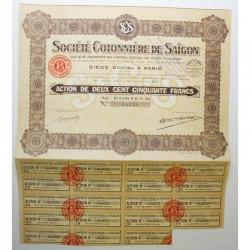Action Anciene : Sté Cotonniere de Saigon ( 229 )