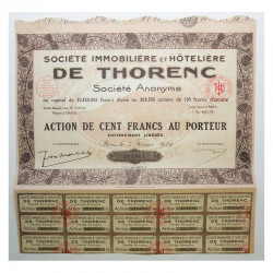 Action ancienne : SI Immobiliere et hoteliere de Thorenc ( 387 )