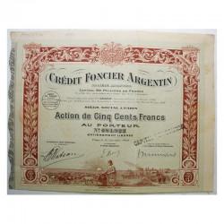 action ancienne: Credit Foncier Argentin ( 424 )