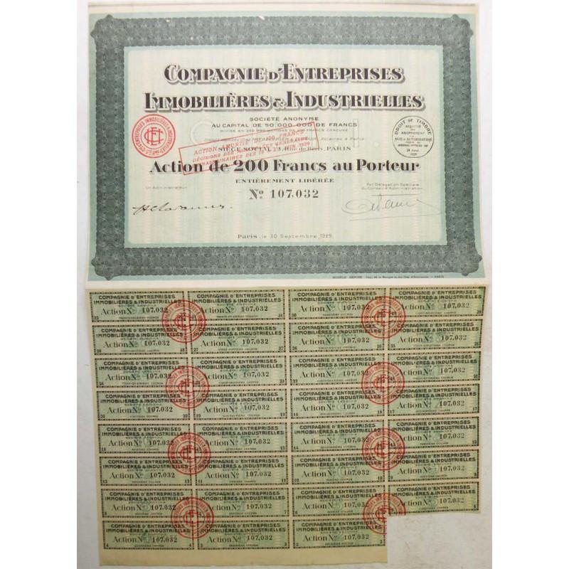 action ancienne: Entreprises Immobilières et Industrielles ( 330 )
