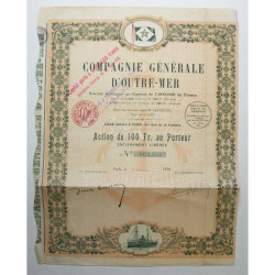 action ancienne : Compagnie generale d outre mer ( 213 )