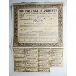 Action Anciene : SA credit foncier du bresil et de l amerique du sud ( 351 )