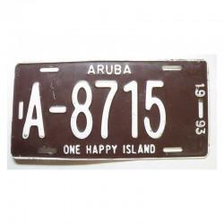 Plaque d Immatriculation Aruba ( 1183 )
