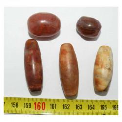 5 perles anciennes du tibet - Dzi ( 017 )