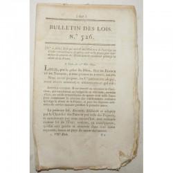 Bulletin des lois - Budget d un ministere - 1822 - Louis XVIII ( 001 )