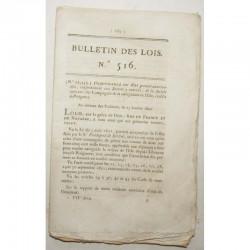 Bulletin des lois - riviere de l Istre - 1822 - Louis XVIII ( 038 )