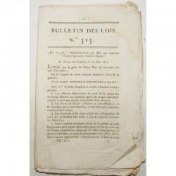 Bulletin des lois - Equitation a Saumur - 1822 - Louis XVIII ( 060 )