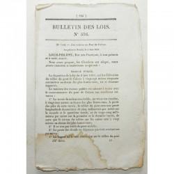 Bulletin des lois - Pont de Cubzac- 1838 - Louis Philippe ( 066 )